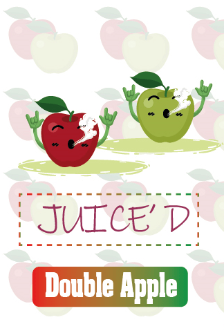 Juice'd - Double Apple 60ml - Steam E-Juice | The Steamery